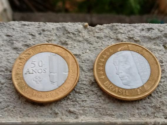 Moeda De 1 Real Comemorativa. Banco Central 50 Anos + Jh