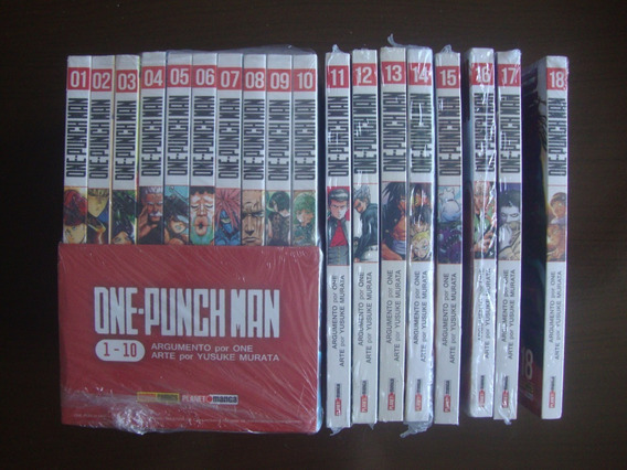 Mangá One-punch Man Panini Completo Volumes 1 Ao 18 Lacrados