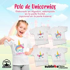 Polos Infantiles De Unicornio Personalizados Para Niñas 4407cc2298e7