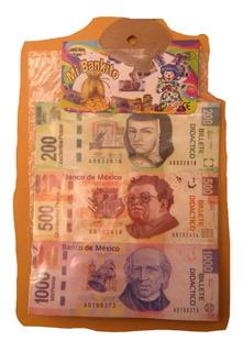 4paq Billetes Monedas Didácticas Dinero Banco Aritmético