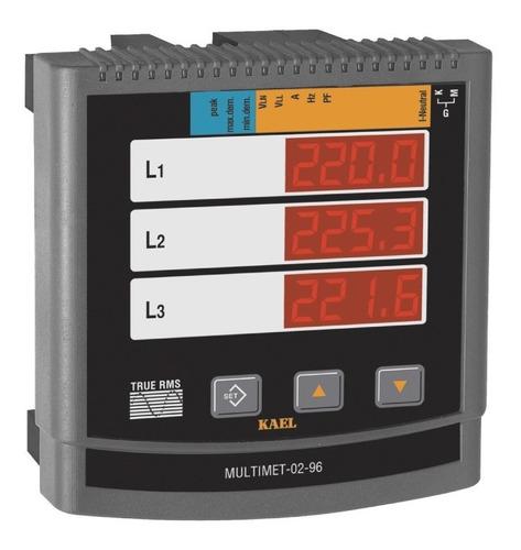 Imagen 1 de 3 de Medidor Trifásico Voltímetro Amperímetro Potencia Coseno Hz