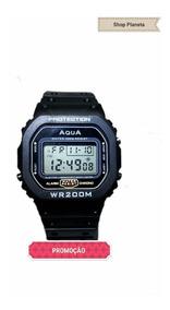 Kit 10 Relógio Aqua Gp 519 * Visor Novo 2019 Promoção *
