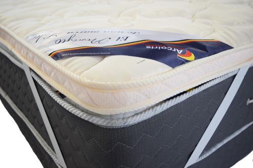 Pillow Top Desmontable 2 Plazas 190x130 Arco Iris