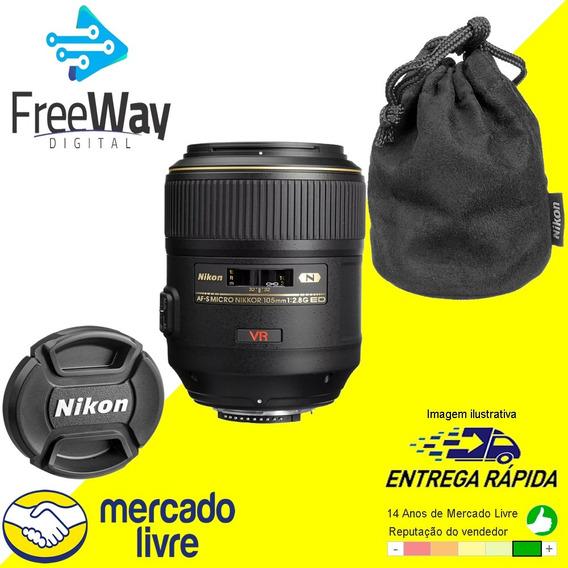 Lente Nikon Af-s Vr Micro-nikkor 105mm F/2.8g If-ed Novo