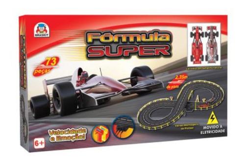 Pista Autorama Elétrica Tipo Hotwheels Fórmula Super Braskit