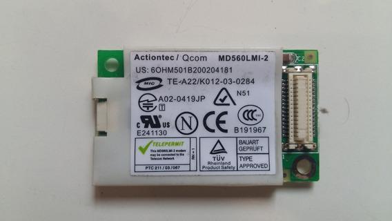 Placa Modem Actiontec Md560lmi-2 Notebook Ecselitegroup 557s
