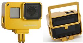 Case Proteção Alumínio Dourada Gopro Hero 5 Black