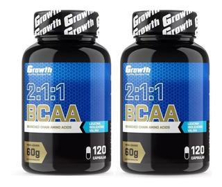 Bcaa Growth Kit 2 Potes 240 Cápsulas
