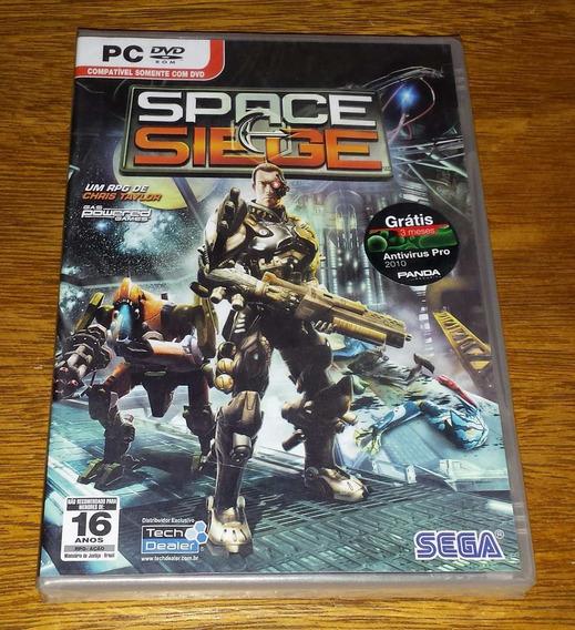 Space Siege Original Computador Pc Mídia Física Game Novo