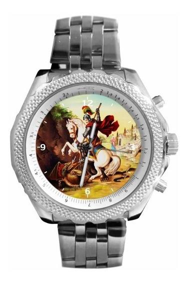 São Jorge Relógio Personalizado 5276