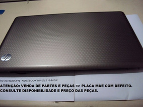 Notebook Hp G62-core I3- 2gb/320gb- Partes E Peças - Usados