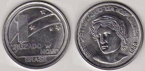 Moeda 1 Cruzado Novo 1989 - Inox Moeda Grande