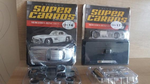 Kit Super Carros Mercedes 300 Sl Burago. Escala 1:24