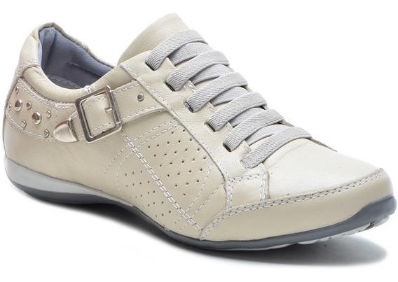 Sapato Sapatênis Tênis Feminino Casual Couro Bmbrasil 221/06