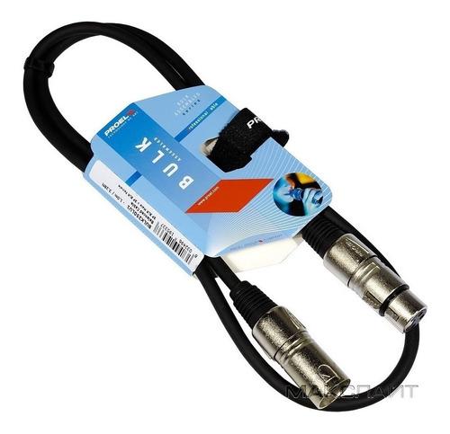 Imagen 1 de 4 de Cable Para Microfono Proel  Xlr-xlr  1 Mts Bulk250lu1  Proel