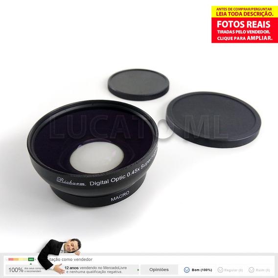 Filtro Grande Angular 0.45x P/ Lente Filtro 67mm 12x S/juros