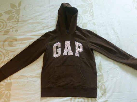 Gap Kids Sweater Niña Talla M 8 Años Marron Letra Rosadas 5v