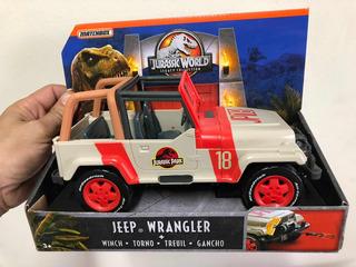 Jurassic Park World Jeep Wrangler Escala 1/18 Matchbox Unico