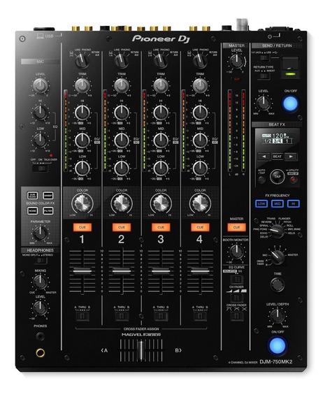 Pioneer Djm 750k Mk2 Mixer Para Dj 4 Canais Rekordbox / Tc
