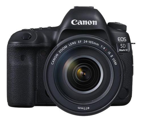 Imagen 1 de 5 de Canon EOS Kit 5D Mark IV + lente 24-105mm IS II USM DSLR color  negro