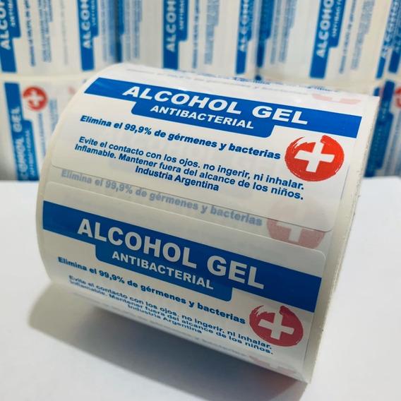 1000 Etiquetas Autoadhesivas Genéricas Bidon Alcohol En Gel