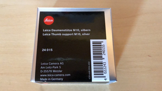 Leica Thumb Support Silver 24015