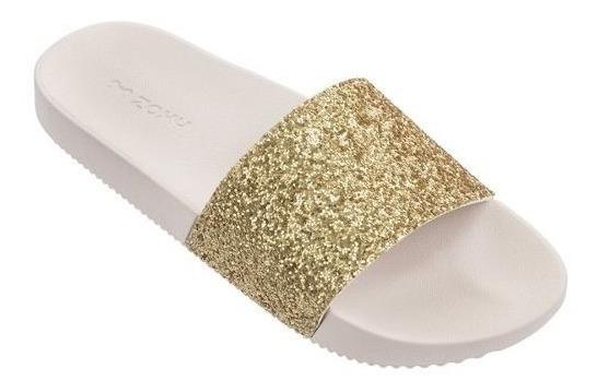 Chinelo Slide Zaxy Snap V - Dourada Frete Grátis