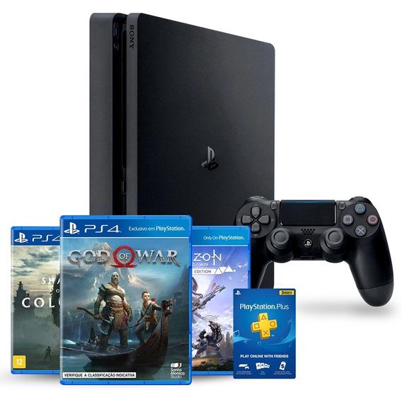 Console Playstation 4 Slim 1tb Bundle Hits 4 Cuh-2214b