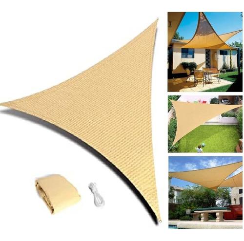 Imagen 1 de 7 de Toldo Vela Impermeable Plegable 5x5x5mt Triangulo