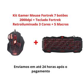Combo Gamer Mouse + Teclado Fortrek C/ Nota Fiscal Envio 24h