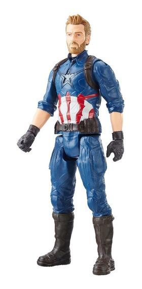 Marvel Titan Hero Figura Captain America 12 Pulgadas
