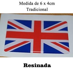 Adesivo Bandeira Inglaterra Resinada Carro Moto 4 Unidades