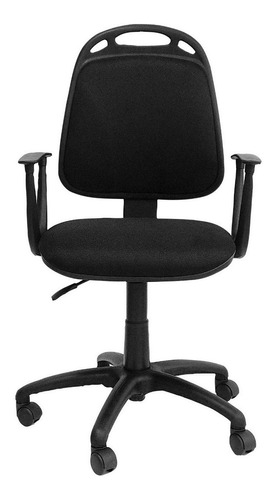 Imagen 1 de 4 de Silla de escritorio de Outlet Diva ergonómica  negra con tapizado de marathon