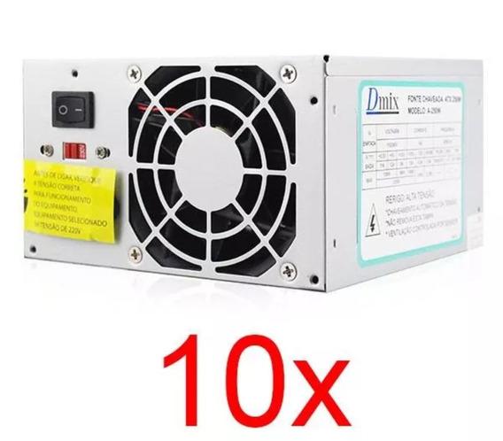 10x Fontes Atx Bivolt 110v ~220v Mega Oferta!!!!!!