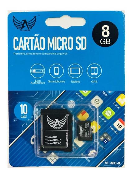 10 Cartão De Memoria Micro Sd 8gb + Adaptador Atacado