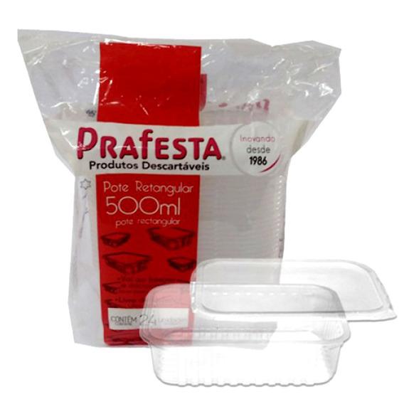 Embalagem Retangular Freezer E Microondas 500ml
