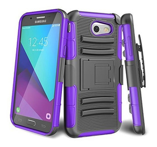 Galaxy J3 Emerge Case Till Knight Armor Heavy Duty Fullbody