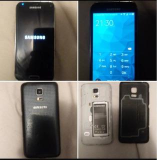 Celular Samsung S5 Mini Con Forro Protector+2 Baterias