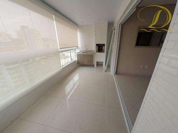 Apartamento Com 3 Dormitórios À Venda, 99 M² Por R$ 430.000,00 - Canto Do Forte - Praia Grande/sp - Ap2472