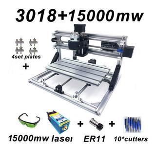 Router Cnc Fresadora Grabados 30x18 Husillo+laser 15w