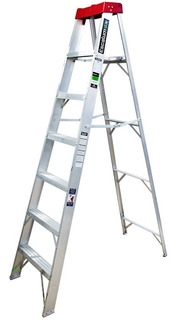 Escalera De Aluminio 6 Peldaños (90 Klgs-2.13mts)