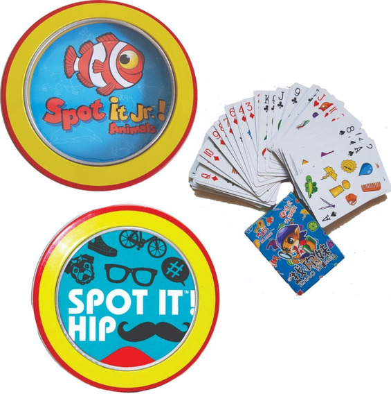 Combo 3 Dobble Spot It Animais Baralho Hip Vintage Card Game