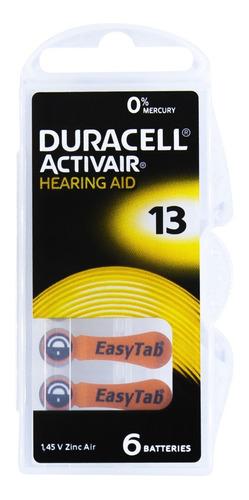 Imagem 1 de 7 de 30 Pilhas Baterias Da 13 Pr48 Aparelho Auditivo - Duracell