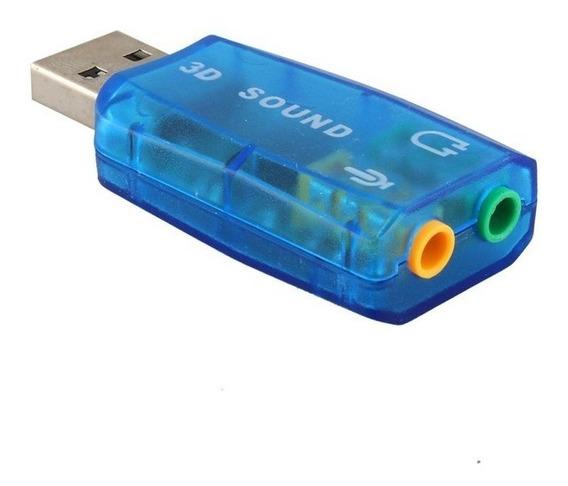 Placa De Sonido Usb Externa 5.1 Audio 3d Surround Videcom