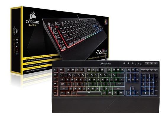 Teclado Gamer Corsair Ch-9206015-br K55 Retroiluminacao Rgb