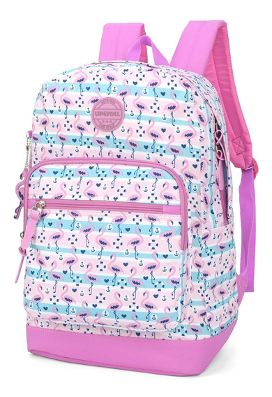 Mochila Flamingo Up4you Preto Ref Ms45767up Luxcel