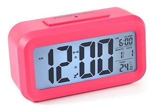 Reloj Despertador Sensor Luz Lcd Digital Daza Dz-s2166