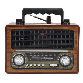 Caixa De Som Retro Com Rádio Am/fm/ Bluetooth