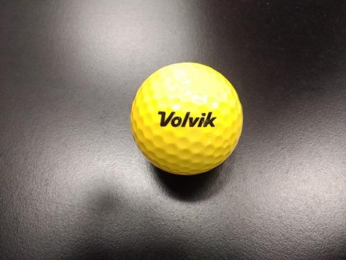 Imagen 1 de 2 de  Pelotas Golf De Práctica Volvik 12 Pz. Amarilla