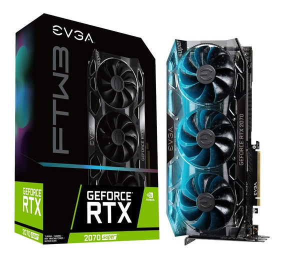 Placa De Video Evga Rtx 2070 Super Ftw3 8gb Gddr6 Hdmi